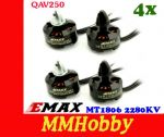 Silniki Emax MT1806 2280KV 4 sztuki Quadcopter Dron Blackout Mini QAV250 FPV 250