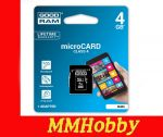 Karta GOODRAM microSDHC 4GB class 4 + adapter SD