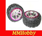 Kompletne Koła 4wd12-32 Felga + Opona (2szt.) Do Auta NQD Monster Truck Off-Road Land Buster
