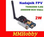 Nadajnik Transmiter FPV TS582000 5.8Ghz 2000MW 8CH Video AV Audio
